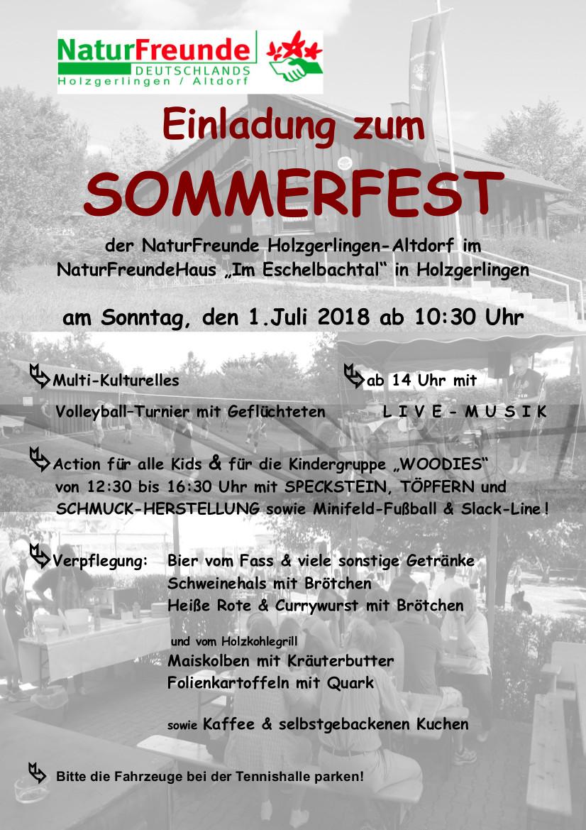 Sommerfest der NaturFreunde | Stadt Holzgerlingen